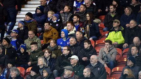 Town fans at The Riverside in Middlesbrough. Picture: Pagepix