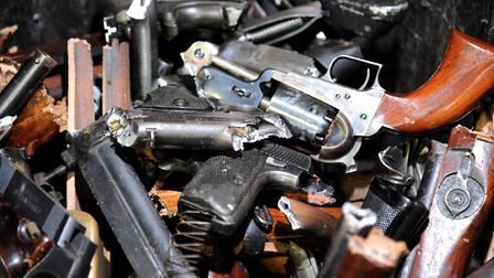 Over 40 weapons were handed to police with those in possession of unlicenced firearms able to surren