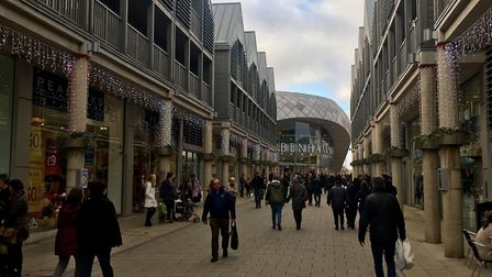 Christmas shoppers at the Arc in Bury St Edmunds Picture: MICHAEL STEWARD