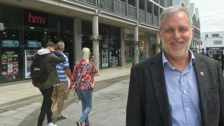 Bury BID chief executive Mark Cordell in the Arc shopping centre. Picture: OUR BURY ST EDMUNDS