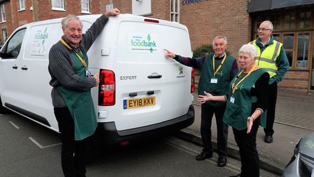 The van was stolen as well as equipment, whihc lef tthe charity unable to move their food to their d