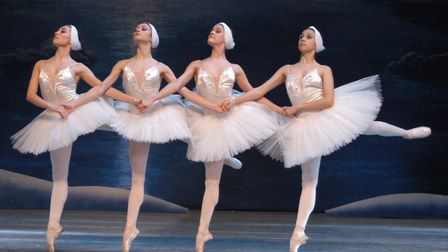 Four cygnets (these ones from the Russian State Ballet of Siberia 2016) production of Swan Lake plus