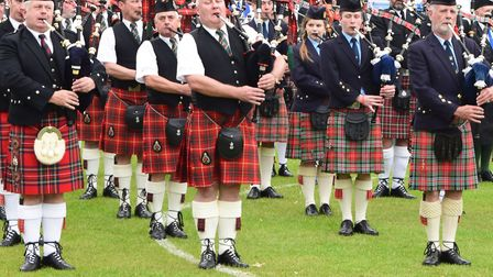 It could have been 11 of these pipers that turned up. Picture: Andrew Mutimer