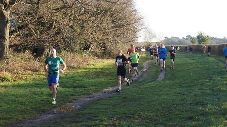 Runners tackling flat 5K course at the weekly Kesgrave parkrun, which held its 227th event on Saturd