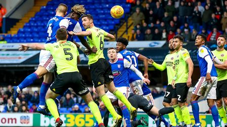 With Sheffield United keeper Dean Henderson on the ground, Luke Chambers heads home, but his effort