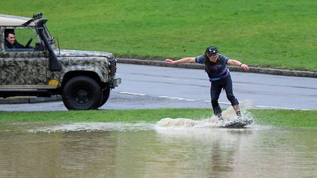 The last time Finchingfield's famous village green flooded, local Bradley Dalziel took the opportuni