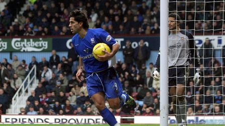 Pablo Counago scored twice as Town won 2-1 at West Ham on Boxing Day in 2003