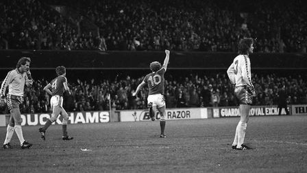 Alan Brazil scored as Town beat Norwich 2-0 at Portman Road on Boxing Day in 1980