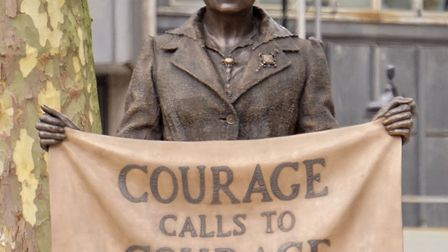 The statue of Millicent Fawcett in Parliament Square. Picture: Garry Knight