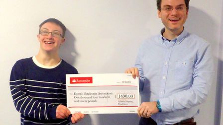 The Down's Syndrom Association celebrated the donation: Picture: GRAHAM HOPSON