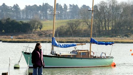 Julia Jones at Woodbridge. 'I truly love the area Im writing about here' Picture: Alex Fairfull