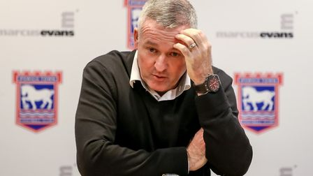 Town manager Paul Lambert is looking to recruit during the January window. Picture: STEVE WALLER