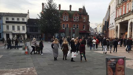Shoppers did come out to Ipswich town centre - but there hasn't been the frenzy we've sometimes seen