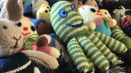Hundreds of 'Bobby Buddies' have been knitted and donated to the appeal so far. Picture: Neil Didsbu