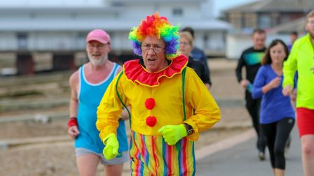 Some runners dressed up for a New Year run Picture: SIMON HOWLETT