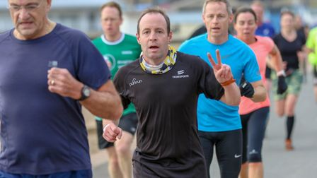 Hundreds of runners took part in the parkrun events across Suffolk on New Years' Day Picture: SIMON