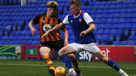 Ben Morris in action for the Blues' Under 23s against Hull. Picture: ROSS HALLS
