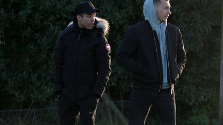 Tristan Nydam and Ben Morris were among the spectators at Ipswich's Under 23 game against Charlton l