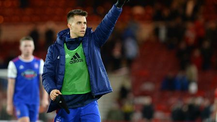 Jonas Knudsen could leave Ipswich Town in January. Picture: Pagepix