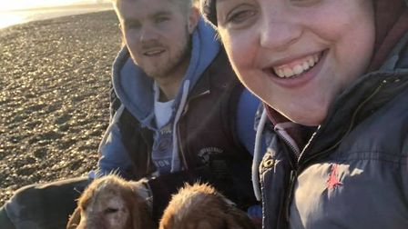 Ella and husband Calum and their two cocker spaniels, Kally and Kleo, are now planning a year of fun