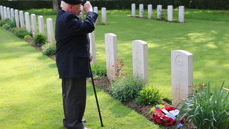 Alan King at the French war cemetary on a previous visit. Picture: BIG WAVE PR