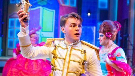Chris Vince is Prince Charming in Cinderella, the New Wolsey 2018 rock'n'roll panto Photo: Mike Kwa