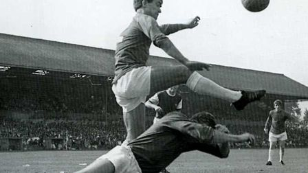 Bobby Hunt playing for Ipswich Town in 1968. On Boxing Day, they'd face Chelsea. Times change...