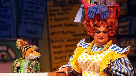 Basil Brush was on the stage of the Ipswich Regent for 2008 panto Aladdin. Boom boom! Picture: LU