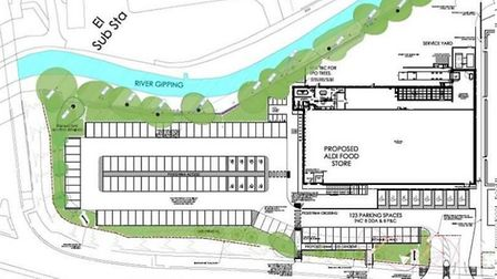 The plan will include 126 parking spaces within the site. Picture: ALDI