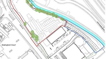 ALDI will be situated next to the River Gipping in Stowmarket. Picture: ALDI