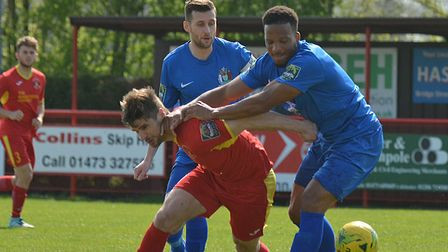 Jamie Griffiths, returns to the Needham Market squad this weekend, against Bedworth. Picture: BEN PO