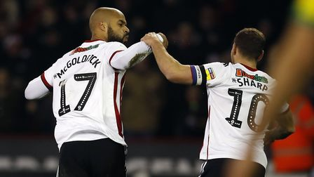 David McGoldrick and Billy Sharp have scored 18 goals between them for Sheffield United this season.