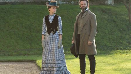 Carey Mulligan is Bathsheba Everdene and Michael Sheen as William in the remake of Far From The Madd