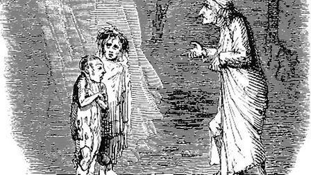 Ignorance and Want, drawn by John Leech Picture: WIKIMEDIA COMMONS