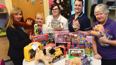 David Wilson Homes have donated Christmas presents to West Suffolk Hospital's children's ward Pictu