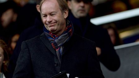 Ipswich Owner Marcus Evans in the stands at Loftus Road on Boxing Day Picture Pagepix