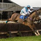 Gina Andrews on her way to victory aboard Hawkhurst at Cottenham. Picture: GRAHAM BISHOP