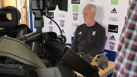 Media attention as Mick McCarthy announced he was to step down as ITFC manager. Picture: NEIL PERRY