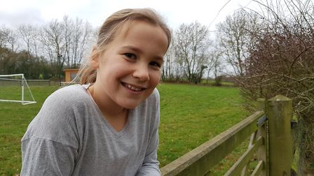 Amelie Bull will be running and walking 500 miles for her Challenge 500 Picture: RACHEL EDGE