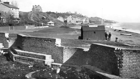 A leisure centre now stands on the site of this coastal battery. This photograph was taken in the 18