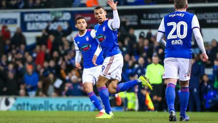 Kayden Jackson gave Ipswich hope late on but his goal proved little more than a consolation. Pict
