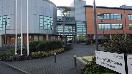 West Suffolk House in Bury St Edmunds will be the headquarters of the new West Suffolk Council.