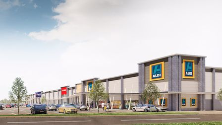 The Gateway Retail Park will include a drive-through Costa, Aldi, The Range and Subway. Image: Urban