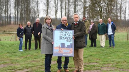 Officials from the Therberton and Eastbridge Action Group on Sizewell (TEAGS), B1122 Action Group an