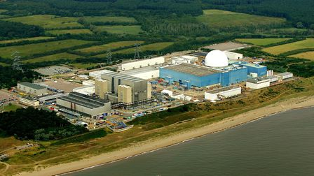 Sizewell A and B - Sizewell C would be built to the immediate north Picture MIKE PAGE