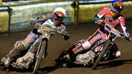 Danny King (left) and Richard Lawson will be team-mates at the Ipswich Witches in the Premiership in