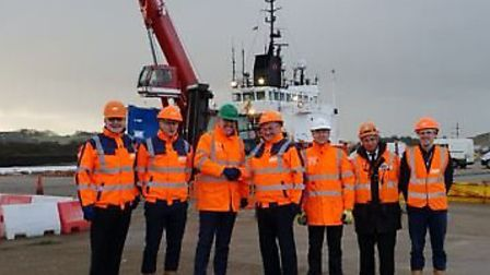 ABP local management welcomes Peterson UK to the Port of Lowestoft. The offshore energy logistics co
