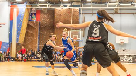 Esther Little led Ipswich with 19 points in the win over Solent. Picture: PAVEL KRICKA