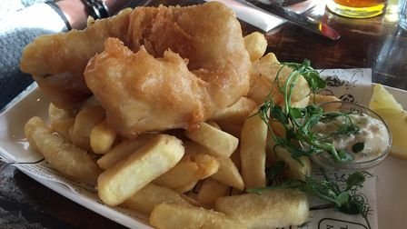 Fish and chips with tartare sauce Picture: Archant