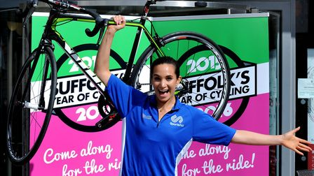 A keen sportswoman, Laura launched the 2015 Women's Tour at the Apex in Bury St Edmunds Picture: AND